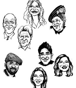 Karikatur zeichnung