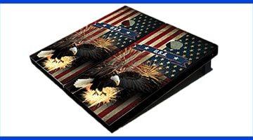 personalized cornhole board set